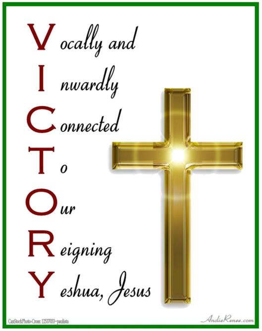 Victory in this world can only be found through Jesus!
